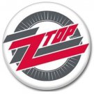 ZZ TOP button! (25mm, badges, pins, heavy metal, southern rock)