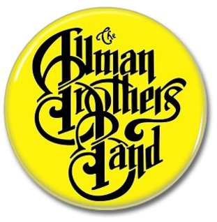 THE ALLMAN BROTHERS BAND button! (25mm, badges, pins, heavy metal, southern rock)