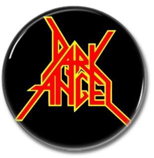 DARK ANGEL band button! (25mm, badges, pins, heavy metal, thrash metal)