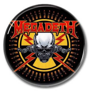 MEGADETH band button! (25mm, badges, pins, heavy metal, thrash metal)