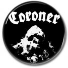 CORONER band button! (25mm, badges, pins, heavy metal, thrash metal)
