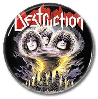 DESTRUCTION band button! (25mm, badges, pins, heavy metal, thrash metal)