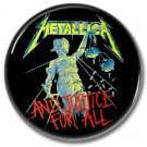 METALLICA 'JUSTICE FOR ALL' band button! (25mm, badges, pins, heavy metal, thrash metal)