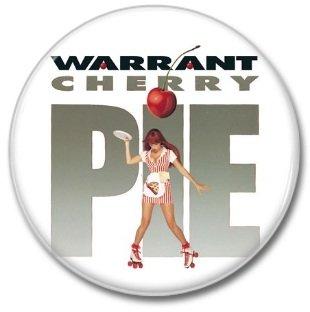 WARRANT band button! (25mm, badges, pins, heavy metal, hair metal)