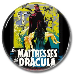 Hammer Films: The Mistresss Of Dracula button (25mm, badges, pins, horror)