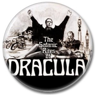 Hammer Films: Dracula button (25mm, badges, pins, horror)