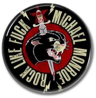 MICHAEL MONROE band button! (hanoi rocks, 25mm, badges, pins, glam)
