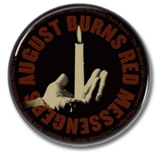 AUGUST BURNS RED band button! (25mm, badges, pins, heavy metal, metalcore, deathcore)