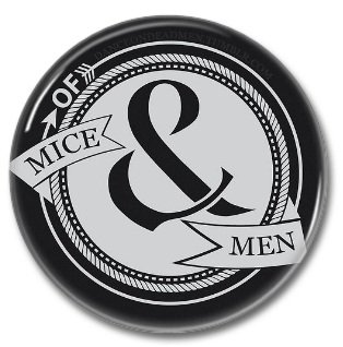 Of Mice & Men band button! (25mm, badges, pins, heavy metal, metalcore, deathcore)