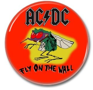AC DC button! (25mm, badges, pins, heavy metal)