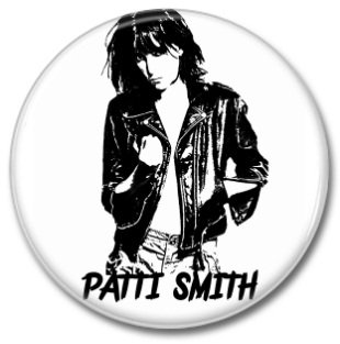 PATTI SMITH button! (25mm, badges, pins)