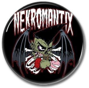 NEKROMANTIX band button! (25mm, badges, pins, rockabilly, psychobilly)