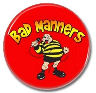 Bad Manners band button! (25mm, badges, pins, ska, punk)