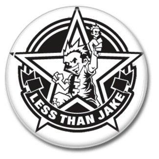 Less Than Jake band button! (25mm, badges, pins, ska, punk)