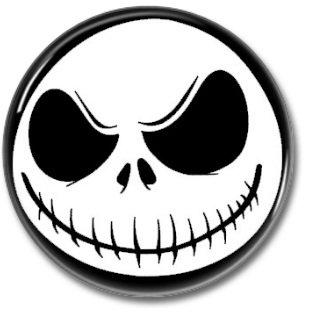 Nightmare Before Christmas button (badges, pins, tim burton, jack)