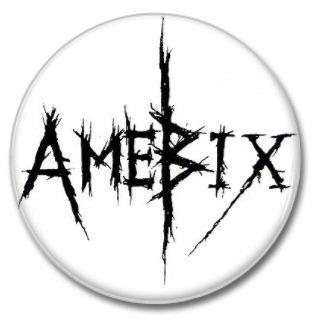 AMEBIX band button (1inch, 25mm, crust pink, badges, pins)