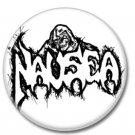 NAUSEA band button (1inch, 25mm, crust pink, badges, pins)