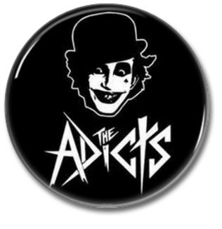 The Adicts band button (25mm, punk, badges, pins)