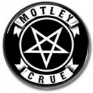 MOTLEY CRUE band button! (25mm, badges, pins, heavy metal, hair metal)