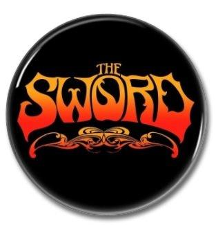 The SWORD band button (badges, pins, stoner rock, sludge)