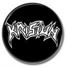Krisiun band button! (25mm, badges, pins, heavy metal, death metal)