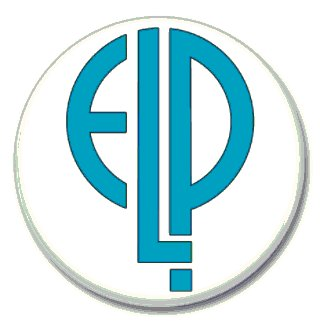 Emerson Lake and Palmer band button (prog rock, badges, pins, 31mm)