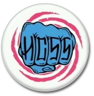 HARDCORE SUPERSTAR band button (badges, pins,25mm, sleaze, glam, punk, heavy metal)
