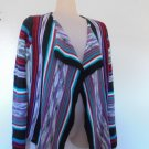 Cato - Multi Colored w/Front Flip Back & Open Down The Front Cardigan Girls 16
