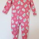 Carter's Child of Mine - Peach Polar Bears Fleece Footed Pajamas Baby Girls 24 M