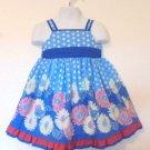 Blueberi Boulevard - Bl & Wte Polka Dot Floral Ruffles Sundress Baby Girl 24 Mo