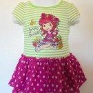 Strawberry Shortcake - Sparkly Bodice w/Pink Polka Dot Skirt Baby Girls Sz 18 Mo