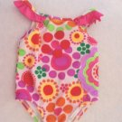 Faded Glory - Floral Ruffled One Piece Swimsuit, Completely Lined Girls 12 Mo.