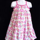 Jumping Beans - Floral Tiered Dress w/Pink Trim Girls Size 5 Nice!