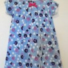Faded Glory - Blue Floral Dress, Cotton/Spandex, Infant Girls Sz 24 Mo.