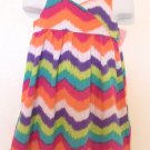 Sonoma - Rainbow Chevron Cotton Sundress Smocked Girls Size 5 Cute & Cool