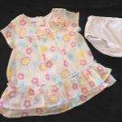 Kidgets - Sheer Floral w/Fabric Flower Church Dress Baby Girl 18 Mo. Cute