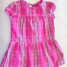 Faded Glory - Pink & Wte Plaid Cotton Dress with Short Sleeves Baby Girls 24 Mo.