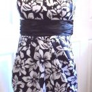 Speechless - Ladies/Girls Blk & Wte Floral Strapless Dress  Juniors 5