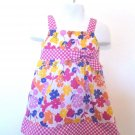 Beverly Hills Princess Floral & Pink Checked Dress w/Panty Baby Girls  24 Mo.