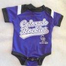 Genuine Team Athletics - Purple/White COLORADO ROCKIES Bodysuit Infant 0-3 Mo.
