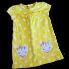 Child of Mine - Yellow Polka Dot w/Appliqued Cows Ruffles Infant Girls Sz 12 Mo.