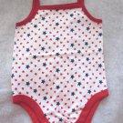 Garanimals Patriotic USA One Piece Creeper Bodysuit Cute & Cool Baby Girls 12 Mo