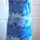 Savvy - NWT Blue Summer Hawaiian Palm Trees Knee Length Dress Ladies Size XL