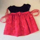 La Princess - Blk Velvety Top w/Floral Sequin Skirt, Lined w/Netting Girls 18 Mo