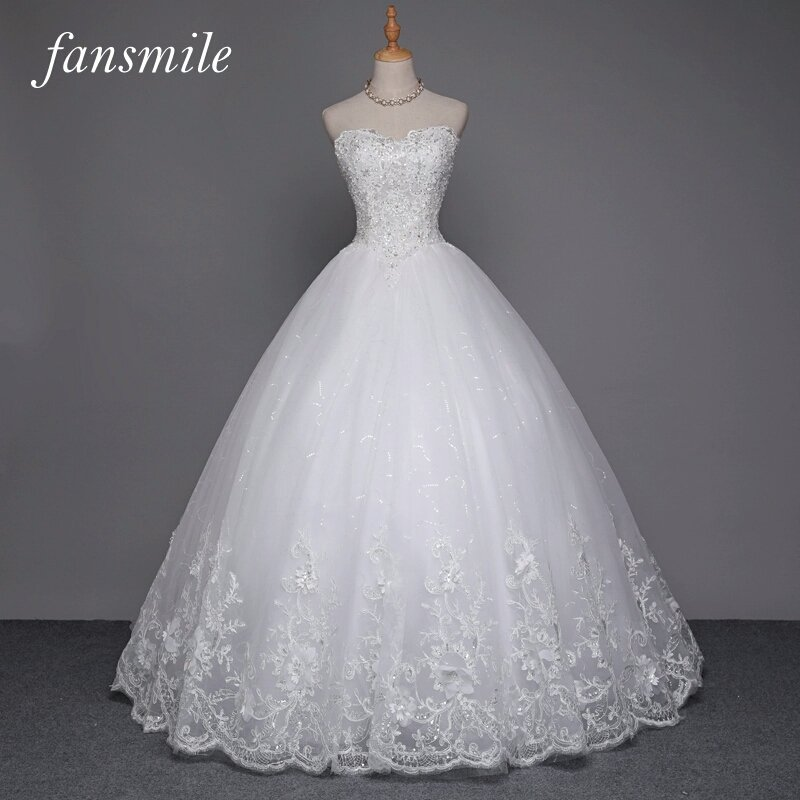 See Through Lace Ball Gown Wedding Dress