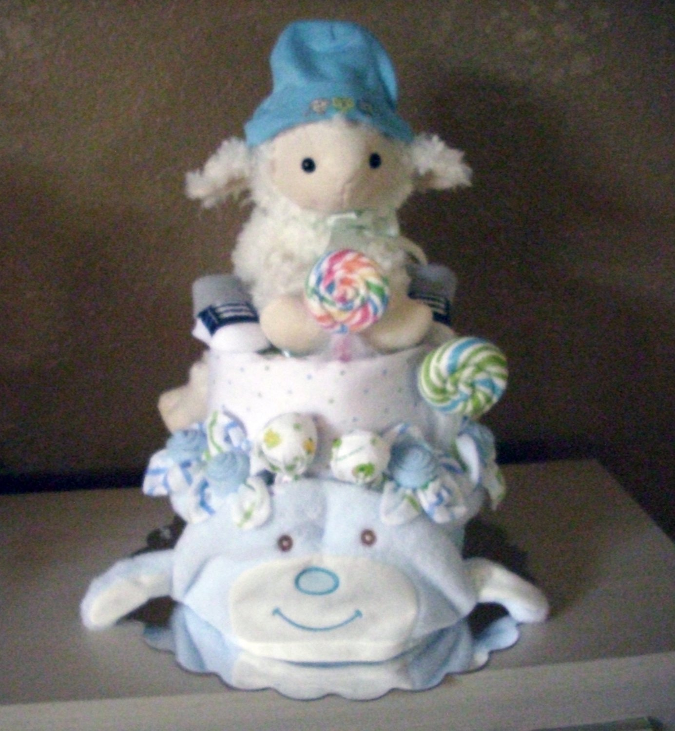 Baby Lamb Diaper Cake for Boy, more than diapers and ribbon Must to See