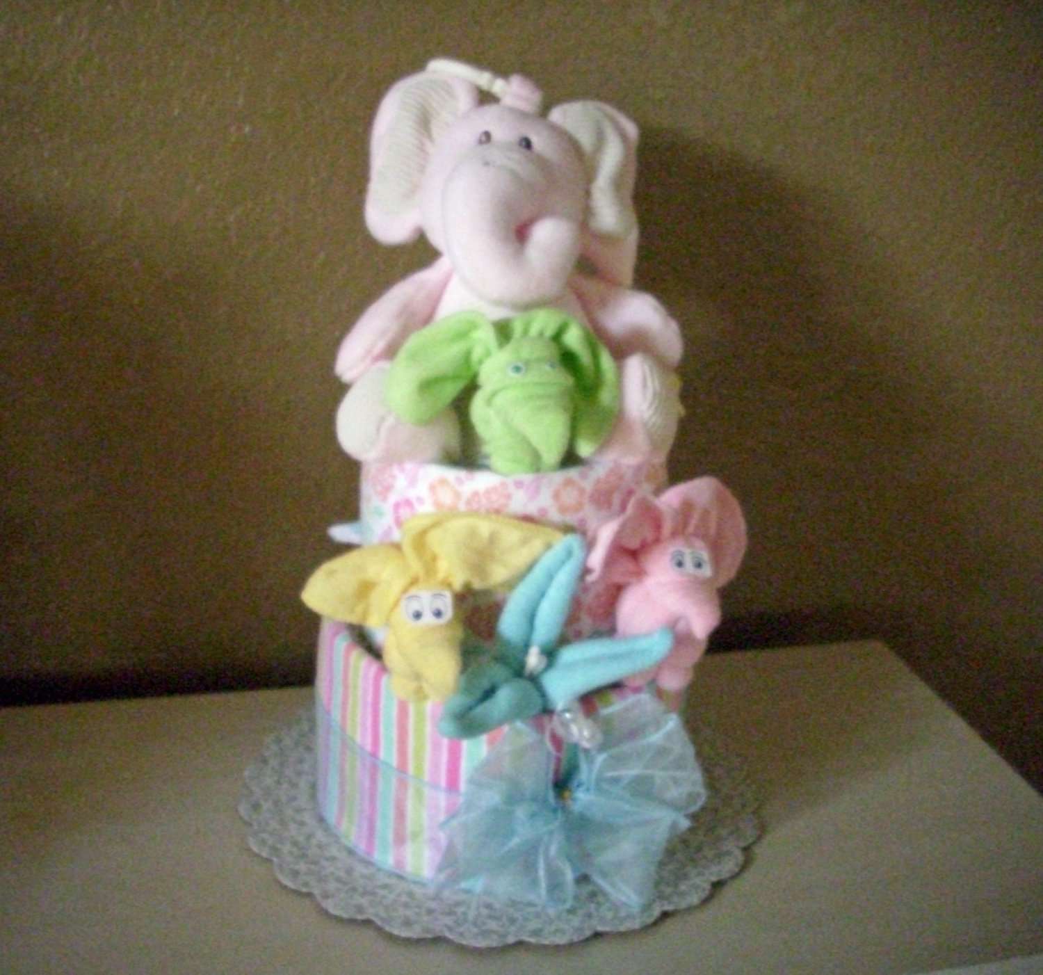Elephant Girl Diaper Cake, Just a must to see! Adorable