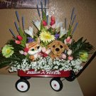Floral Arrangement, Baby Shower Radio Flyer Wagon, This has it all!! BOY/GIRL
