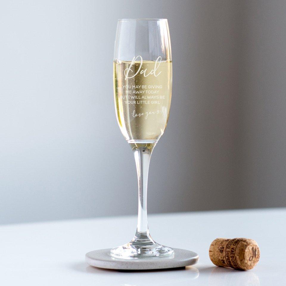 Dad Wedding Champagne Glass