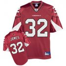 100% polyester Reebok Arizona Cardinals Edgerrin #32 James Team Color Jersey(RED)NFL JERSEYS!!!